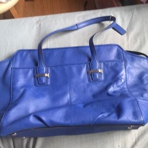 All leather royal blue Coach bag! Great condition